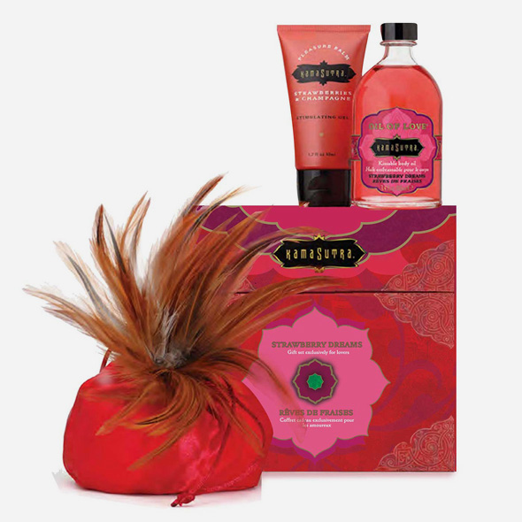 Coffret cadeau romantique TREASURE TROVE STRAWBERRY - KamaSutra