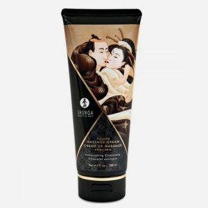 crème hydrante de massage shunga au chocolat