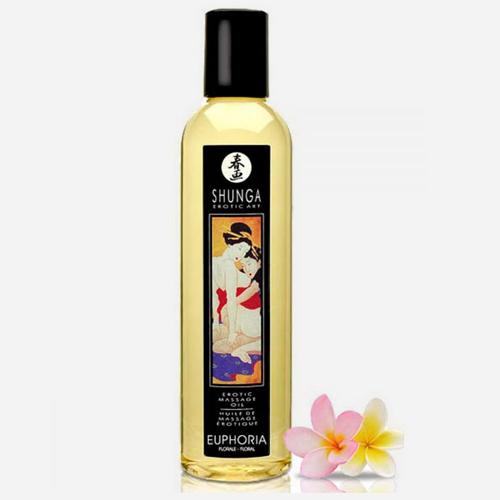 huile de massage aphrodisiaque shunga-euphoria fleurs