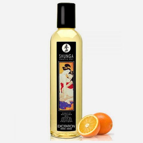 huile de massage aphrodisiaque shunga-excitation orange