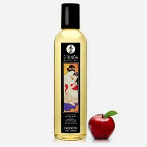 huile de massage aphrodisiaque shunga-passion pomme