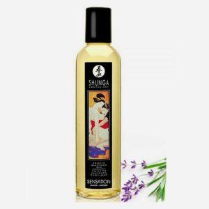 huile de massage aphrodisiaque shunga-sensation lavande