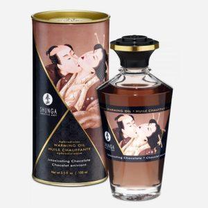 huile de massage chocolat shunga chauffante comestible 100ml