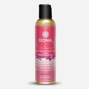 Huile de massage parfumée Baie rouge - Dona
