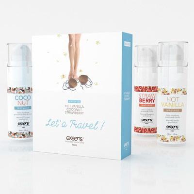Coffret de 3 huiles de massage gourmandes2 - Exsens