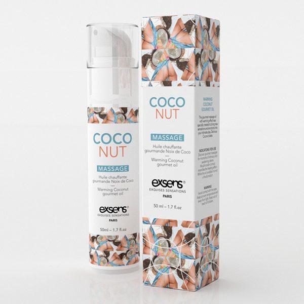Huile de massage HOT Gourmand Coco 50ML - Exsens