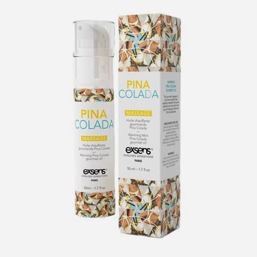 Huile de massage HOT Gourmand PINA COLADA 50ML - Exsens