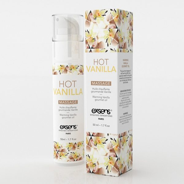 Huile de massage HOT Gourmand Vanille 50ML - Exsens