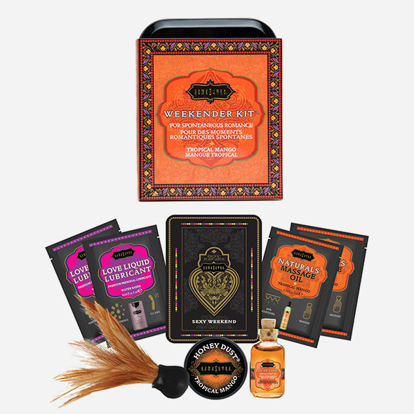weekender kit coffret cadeau massage kama sutra